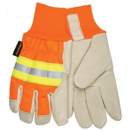 MCR Safety® Luminator™ Thermosock® Lined Pigskin Leather Palm Gloves