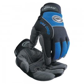 Caiman® Synthetic Leather Padded Palm Grip Mechanics Gloves