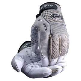 Caiman® Deerskin Padded Palm and Knuckle Protection Mechanics Gloves