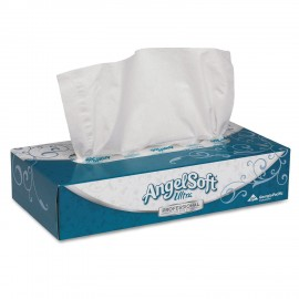 Angel Soft®Ultra Facial Tissue, 2-Ply, White, 125 Sheets,10CT