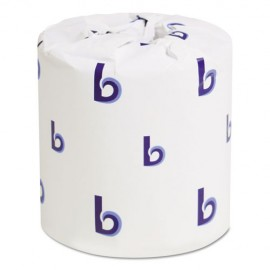 Boardwalk®Two-Ply Toilet Tissue, Standard, Septic Safe, White, 4 x 3, 500 Sheets/Roll, 96