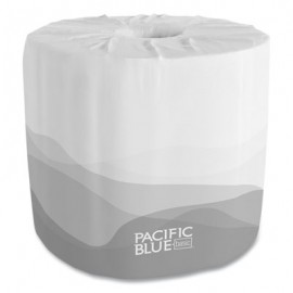 Pacific Blue® Basic Bathroom Tissue, Septic Safe, 2-Ply, White, 550 Sheets/Roll, 80 Rolls