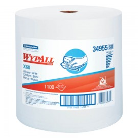 WypAll® X60 Wipers Jumbo Roll, White,1,100 CT
