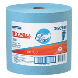 WypAll® X60 Wipers Jumbo Roll, Blue,1,100 CT