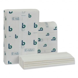 Boardwalk® Structured Multifold Towels, 1-Ply, 9 x 9.5, White, 250/Pack, 16 Packs