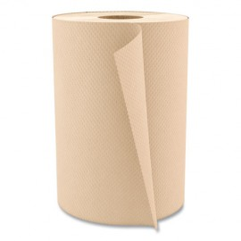 """Hardwound Paper Towels, 8"""" x 350ft, 1-Ply Natural, 12 Rolls"""