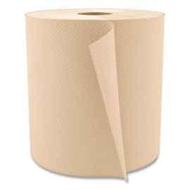 Hardwound Paper Towels, Nonperforated 1-Ply Natural, 800 ft, 6 Rolls/Carton