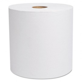 """Select Hardwound Roll Towels, White, 7 7/8"""" x 800 ft, 6/Carton"""