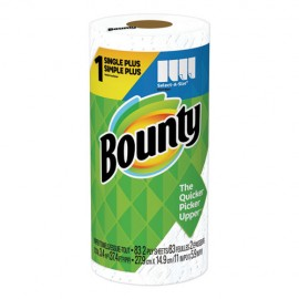 Bounty® Select-a-Size Kitchen Roll Paper Towels, 2-Ply, White, 5.9 x 11, 74 Sheets/Roll, 24 Rolls