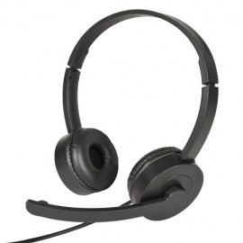 USB On-Ear Headset with Fold-Away Noise Canceling Microphone & Inline Controls