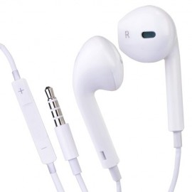 Stereo Earbuds w/Inline Volume Control (White)