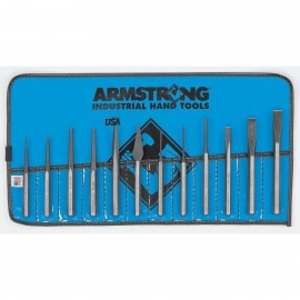 Armstrong® 12 pc Punch & Chisel Set Vinyl Pouch