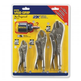 Vise-Grip® The OriginalTM 3 Pc. Locking Pliers Sets with 8-in-1 Screwdriver