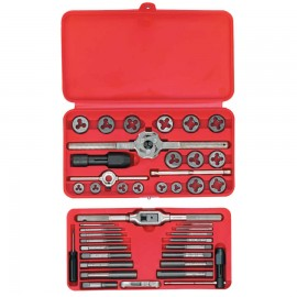 41-pc Machine Screw/Fractional Tap and Hex Die Sets