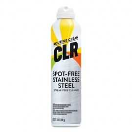CLR®Spot-Free Stainless Steel Cleaner, Citrus, 12 oz Can, 6/Carton