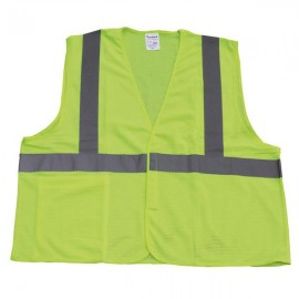 TruForce™ Class 2 Solid Mesh  Safety Vest Lime
