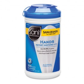 Sani Professional® Hands Instant Sanitizing Wipes,300CT
