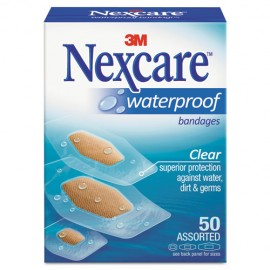 Waterproof, Clear Bandages, Assorted Sizes, 50CT-Nexcare®