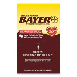 Aspirin Tablets, Two-Pack, 50CT-Bayer®