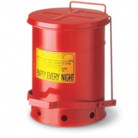 Justrite® Oily Waste Can, 6 gal, Red,