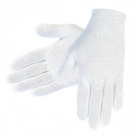 MCR Safety® Cotton Inspector Gloves, Large, White, 12/Pair