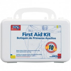 10 Person Bulk First aid Kit w/Dividers